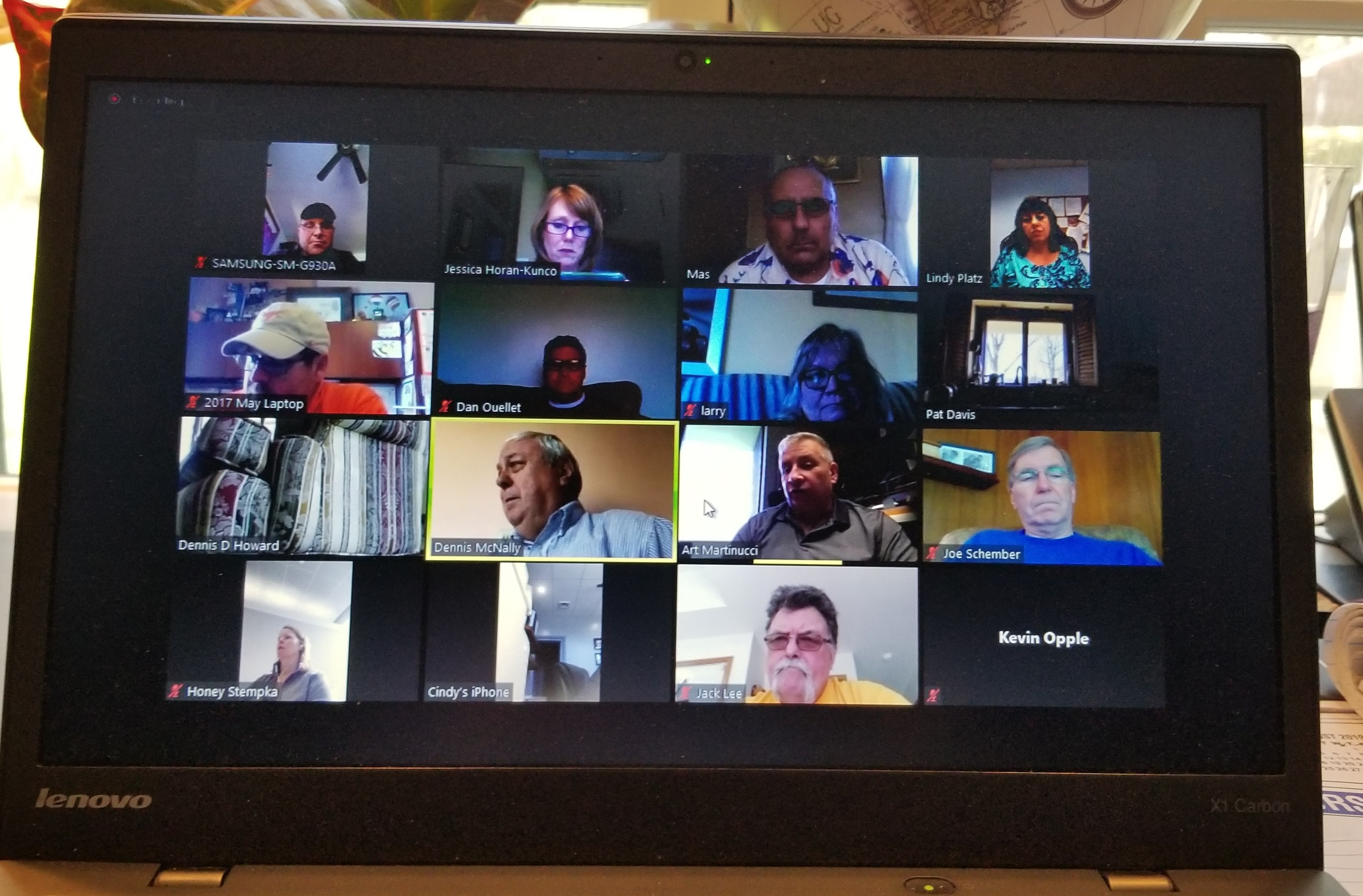 First ever ZOOM COG meeting!