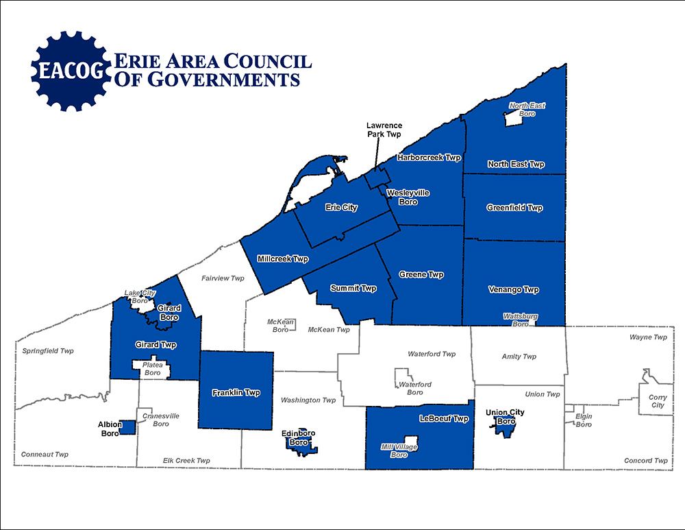 Map of member municipalities